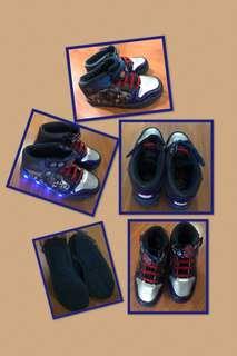 Kids Original Marvel Avengers Mid Cut Rubber Shoes