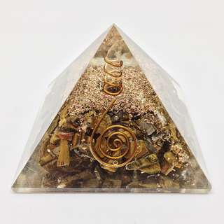 Tiger's Eye Orgone Pyramid