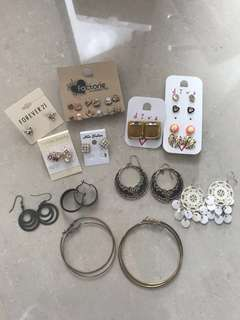 Lot of Accessories Earrings, Necklaces, Rings, Bracelets