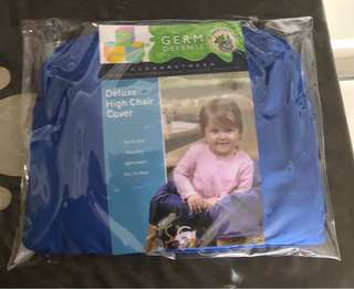 BN Deluxe high chair cover blue