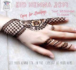 Eid henna for Hari Raya