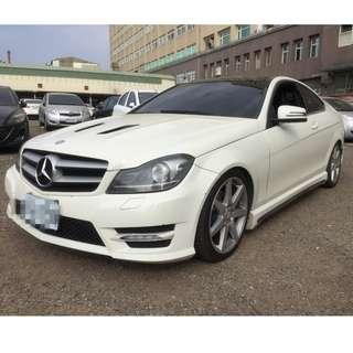 2012年C250白色雙門跑14萬        大桃園優質二手中古車買賣