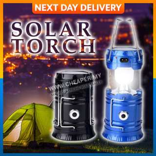 Solar Power Rechargeable-Outdoor Indoor Torch Light LED Hand Lamp