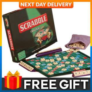 Scrabble Board Game Crossword Game Board Educational