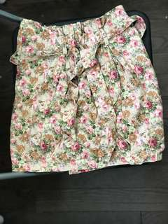 Floral Pencil Skirt (Used Once, Fits 25-26)