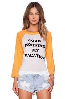 """WILDFOX """"Good Morning My Vacation"""" size M"""