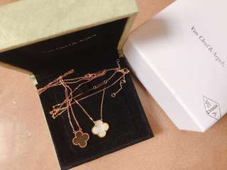 VCA van cleef & arpels necklace set rose gold & gold lv hermes bvlgari cartier arte carat dior chanel lane crawford