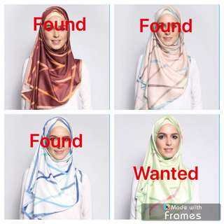 WANTED‼️Authentic Duckscarves Duck LE Blurred Lines in Mint