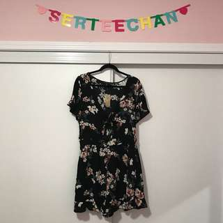 American Eagle Cherry Blossom Tie-up Front Romper
