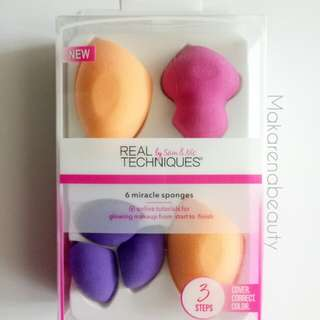 Real Techniques Miracle Sponge 6 pcs