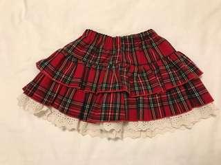 🚚 女童冬季款格子裙