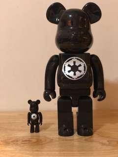 Star Wars imperial bearbrick 100&400% 中古品
