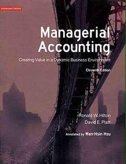 🚚 管理會計學managerial accounting. Hilton