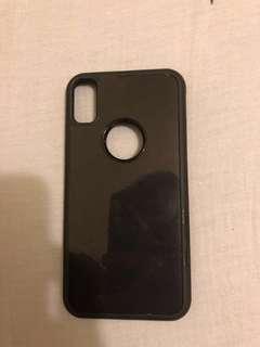 黑色iphoneX抗重力手機殻升級版