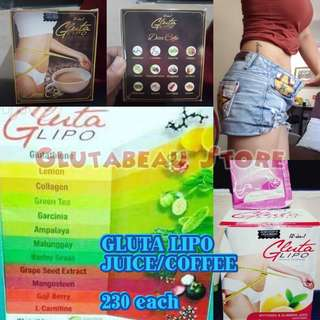230 PHP!! GLUTA LIPO 12 IN 1 SLIMMING AND WHITENING