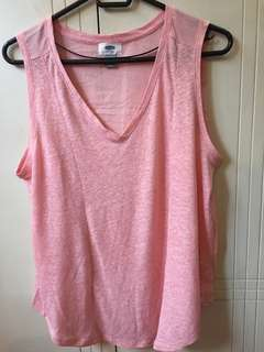 OLD NAVY PINK SLEEVELESS TOP