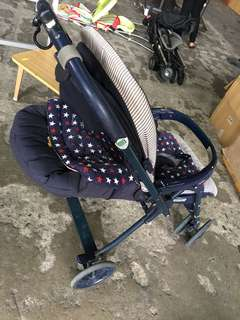 Aprica Stroller with Full Recline
