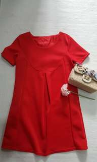 Maternity red dress(wore once)