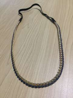 Authentic Forever21 blue-gold headband
