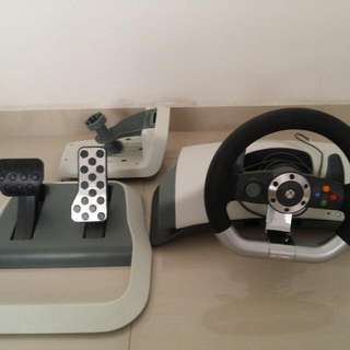 Xbox 360 Wheel Set With Pedal.