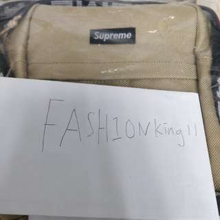 Supreme 18ss shoulder bag tan