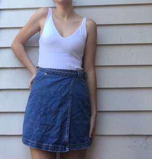 Urban outfitters adjustable denim skirt