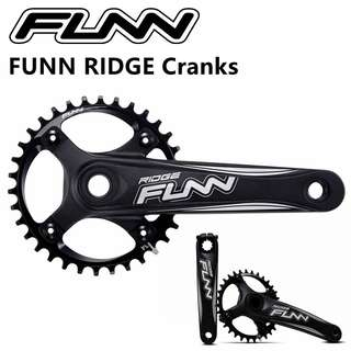 🆕! FUNN RIDGE Crankset + 34T Narrow Wide Chainring + 68/73mm Bottom Bracket BB  ( COMPLETE SET AS PICTURE ) #OK