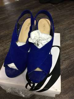 Nine West Electric Blue Wedge Sandals