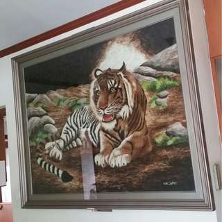Gigantic Tiger Feather Art