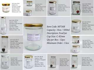 Glass Jars and Bottles For Sale
