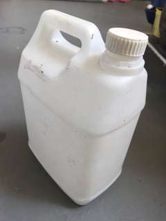 Empty 5l water container
