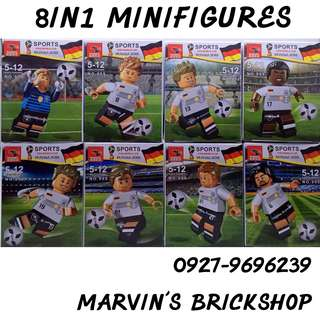 Latest FIFA World Cup Russia 2018 8in1 Minifigures