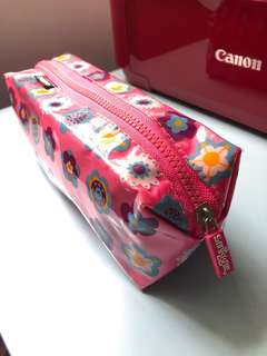 Smiggle Pencil Case Pink Flowers