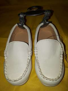 Mothercare White Leather Baby Topsider Shoes