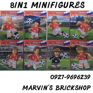 For Sale Latest FIFA World Cup Russia 2018 8in1 Minifigures