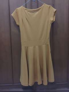 Mustard dress mini