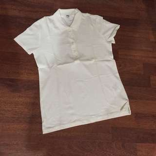 Uniqlo White Polo Shirt