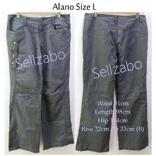Size L Alano Petite Wide Legs Cargo Long Pants Sellzabo Grey Colour Ladies Girls Women Female Lady