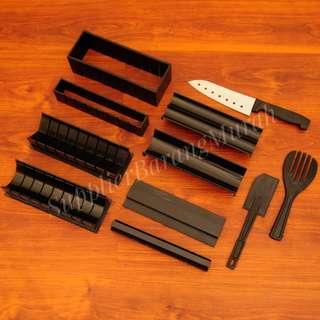 Sushi Maker Profesional 10 set ( perfect roll sushi bentuk love persegi bulat