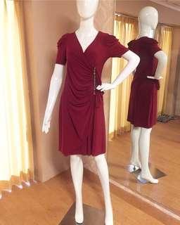 Red cocktail dress / party dress maroon/ baju pesta pendek / prom dress
