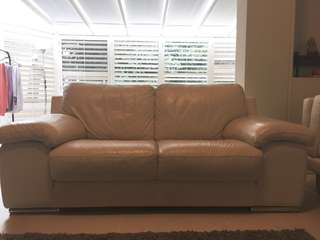 Leather cream couch
