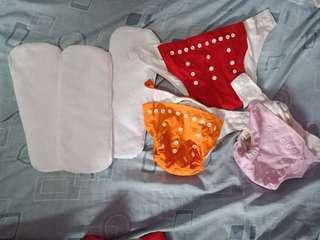 Teke all Wash Cloth Diapers sf included w/in metro manila