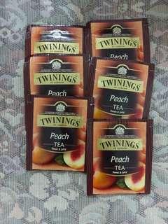 🚚 TWININGS格雷伯爵茶 桃子茶 茶包