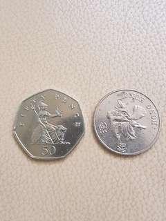英國2002年50便士