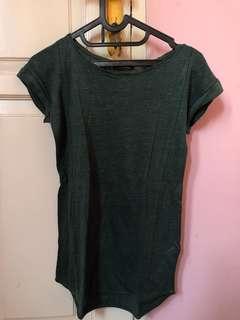 dark green shirt massimo dutti