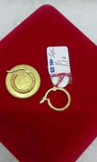 EARRINGS 18K SAUDI GOLD AUTHENTIC/REAL