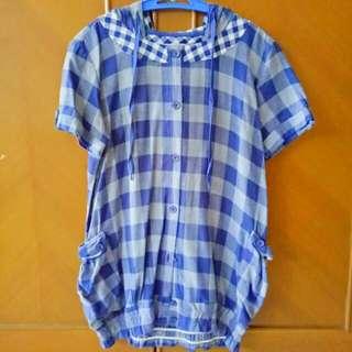 (Preloved) Tartan Hoodie Dress