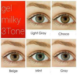 Softlens Gel Sole 3Tone Milky