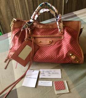 Authentic Balenciaga perforated limited edition bag