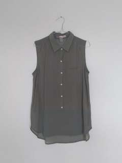 Forever 21 sleeveless army top
